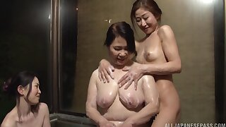 Hardcore lesbian fucking between a mature and a younger spoil