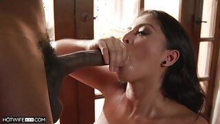 Black dude with a hunger penis fucks gorgeous model Sophia Leone