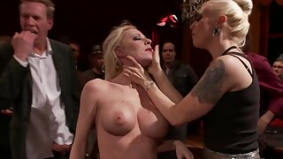 Big-Titted blond hair sprog slave affinity public nailed