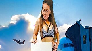 Princess Hola in Sizzling Hot Brunette Gets Naked in Front of a Plane - VRpussyVision