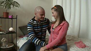 Moistness Russian Eighteen Years Old Lets Her Boyfriend Creampies Her Butt