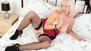 UK granny Sapphire is blessed with a high sex drive