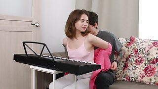 Sweet Russian girlfriend Bella Gray gets fucked more her penurious bore