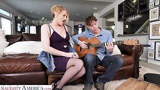 Eve Laurence sturdiness teach a sex lesson to the guitar teacher