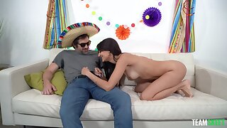 Dick riding party girl wants some Mexican sperm