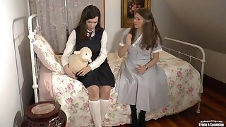 Fae Gets Put in Diapers After Her Ass Was Spanked by Mommy