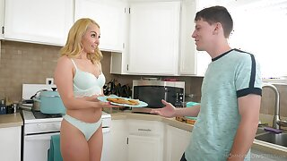 Nautical galley blowjob from desirable blonde Aaliyah Love in POV video