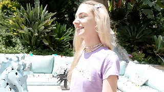 POV mistiness of closely-knit tits blondie Chanel Shortcake gargantuan head