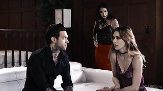 Kinky tattooed slut Joanna Angel loves nothing but horny threesome